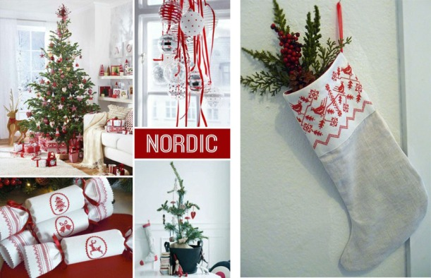 Nordic Trend Board Featuring Kate Sproston Design Reusable Crackers and Nordic Christmas Stocking by Cherie Wheeler Designs.