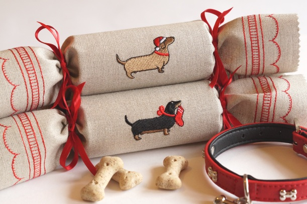 Dachshund Reusable Christmas Cracker by Kate Sproston Design.