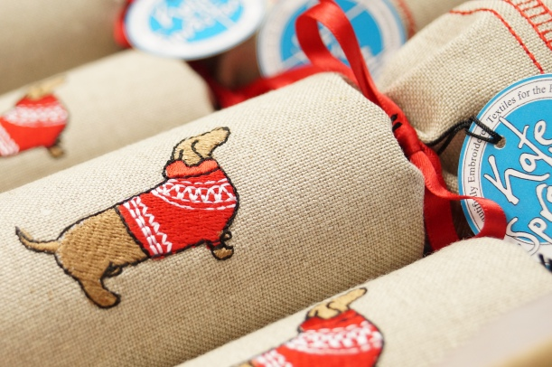 Dachshund in Jumper Chrisrmas Cracker by Kate Sproston Design