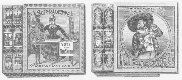 Tom Smith's Suffragette Crackerettes and Golliwog Crackers