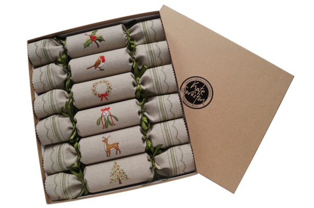 Woodland Christmas Crackers in Gift Box by Kate Sproston Design